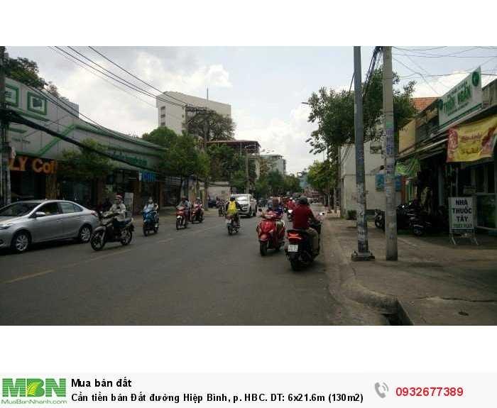 Cần tiền bán Đất đường Hiệp Bình, p. HBC. DT: 6x21.6m (130m2), giá đầu tư lướt sóng