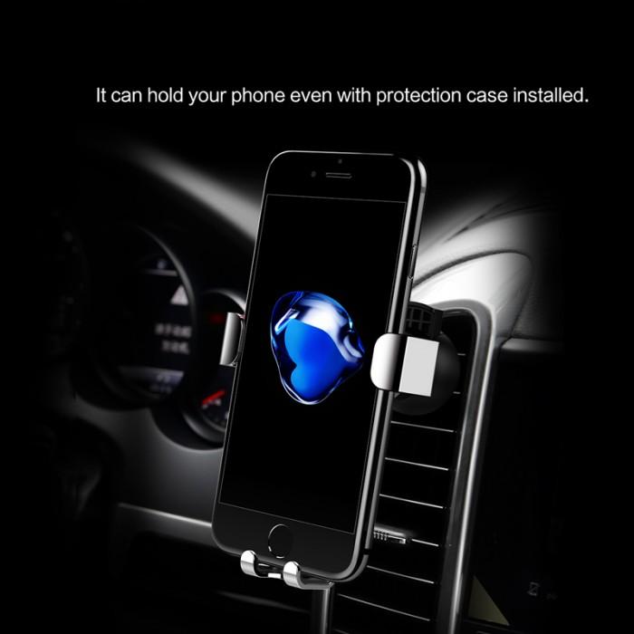 Giá đỡ kẹp điện thoại trên xe hơi ROCK Metal Gravity 2