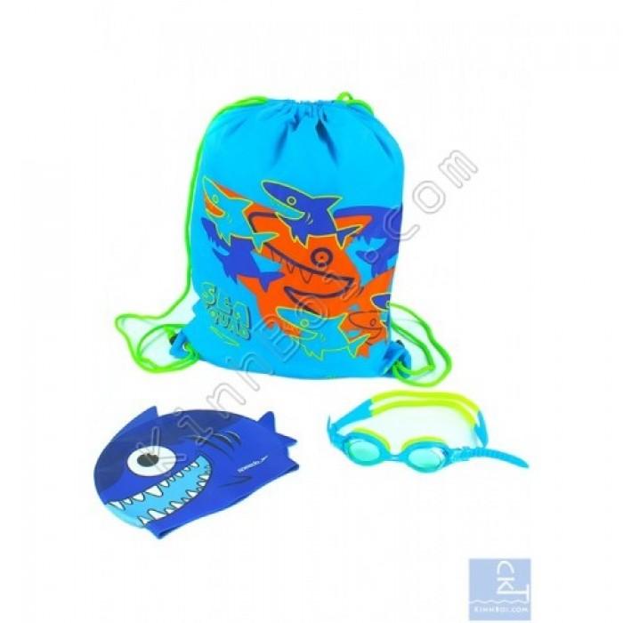Bộ kính mũ túi Speedo Sea Squad Swim Pack - Xanh0