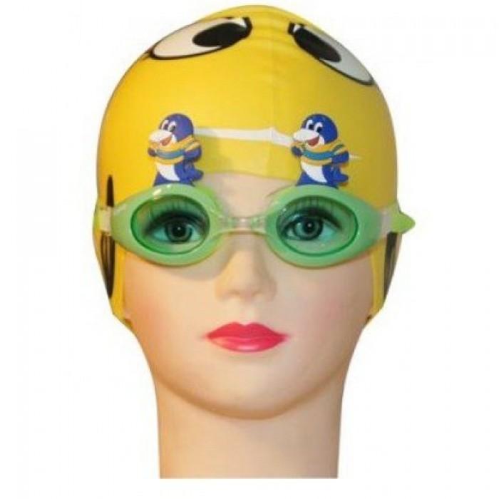 Kính bơi trẻ em Aryca WG43B con giống (cá heo xanh lá) 0-2 tuổi0
