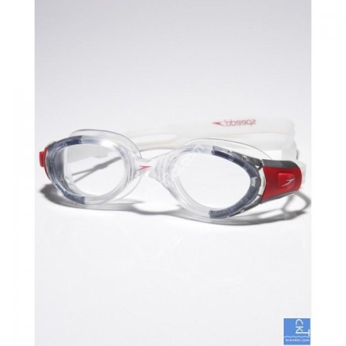 Kính bơi Speedo Futura Biofuse - trắng/đỏ0