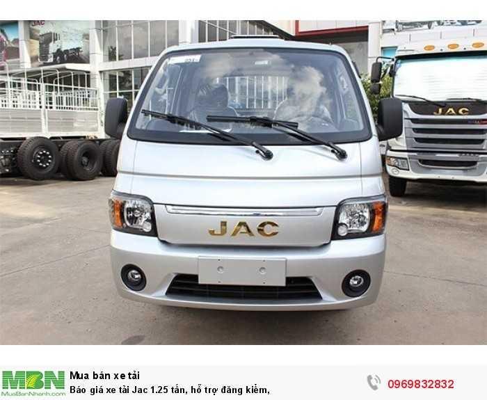 Báo giá xe tải Jac 1.25 tấn, hỗ trợ đăng kiểm,