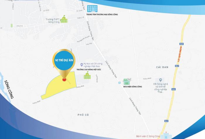 Chỉ từ 450 triệu sở hữu lô đất nền 100m Thành Phố Sông Công - Thái Nguyên. Khả năng sinh lời cao hơn gửi tiết kiệm ngân hàng