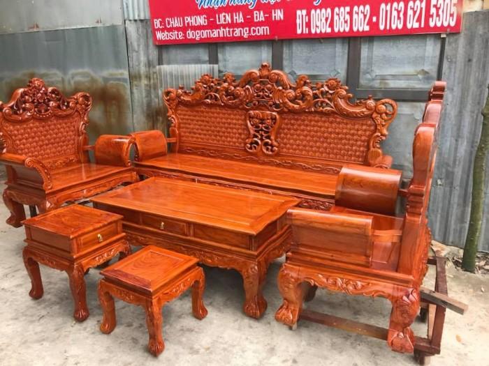 Giường ngủ gỗ 1,8x2m giát phản giường đôi Đồ Gỗ Mạnh Tráng  bảo hành trọn đời5