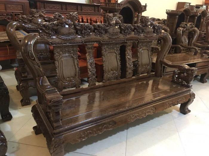 Giường ngủ gỗ 1,8x2m giát phản giường đôi Đồ Gỗ Mạnh Tráng  bảo hành trọn đời4