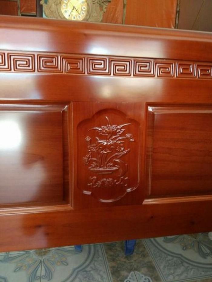 Giường ngủ đôi gỗ xoan đào 1m80x2m  Đồ Gỗ Mạnh Tráng khuyến mãi giảm giá tất lên đến 3% tổng hóa đơn giá trị sản phẩm !1