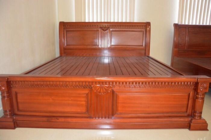 giường ngủ gỗ xoan đào 1M60X2M Hàng bền,đẹp phun PU tỷ mỉ - độ bền trên 50 năm hỗ trợ 3% tổng hóa đơn10