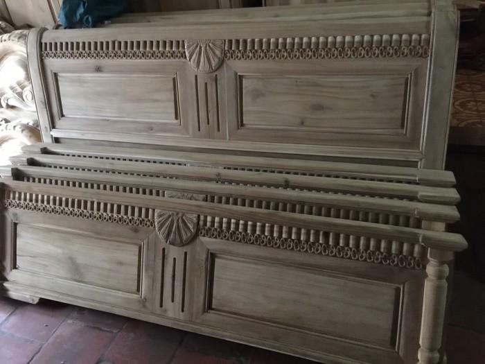 giường ngủ gỗ xoan đào 1M60X2M Hàng bền,đẹp phun PU tỷ mỉ - độ bền trên 50 năm hỗ trợ 3% tổng hóa đơn4