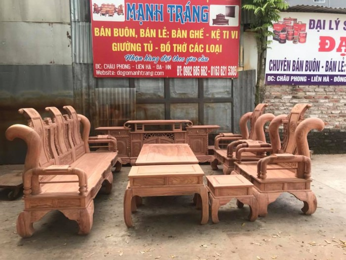 giường ngủ gỗ sồi nga 1m20  Đồ Gỗ Mạnh Tráng giao hàng toàn quốc5