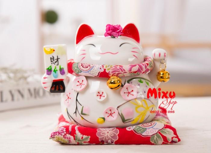 Mèo Thần Tài Kim Đào 15cm May Mắn Tài Lộc17