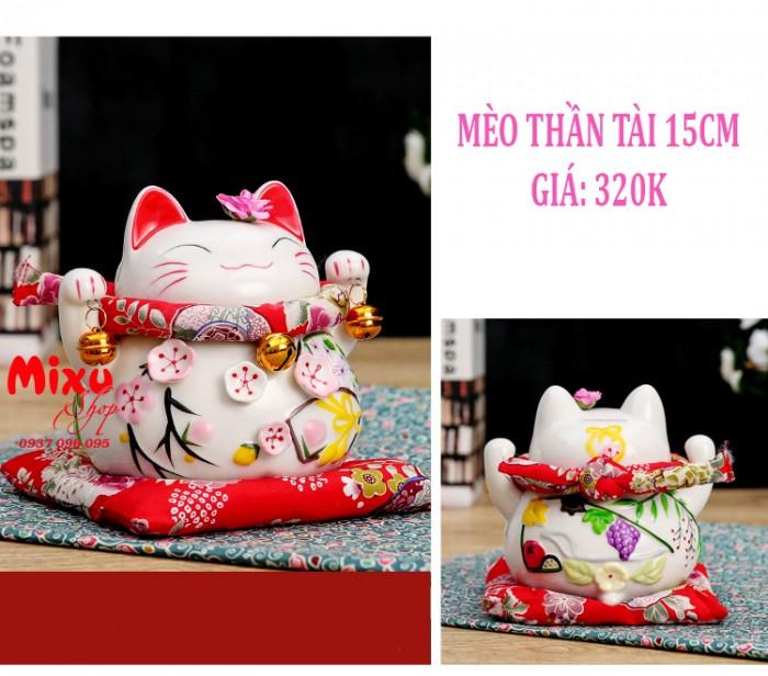 Mèo Thần Tài Kim Đào 15cm May Mắn Tài Lộc14