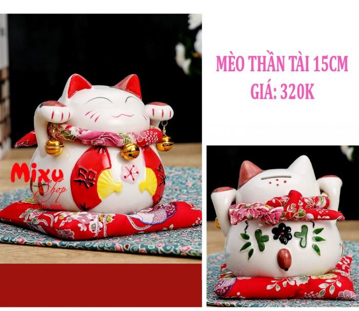Mèo Thần Tài Kim Đào 15cm May Mắn Tài Lộc10