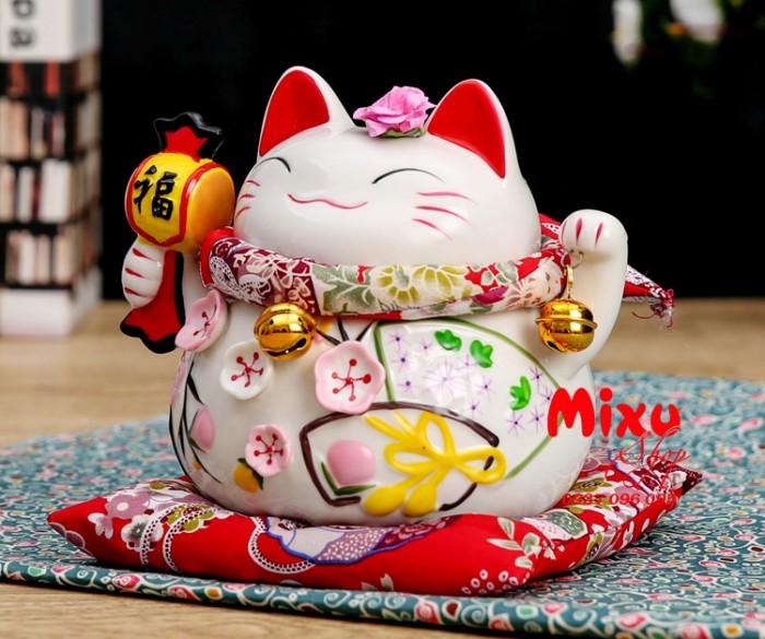 Mèo Thần Tài Kim Đào 15cm May Mắn Tài Lộc11