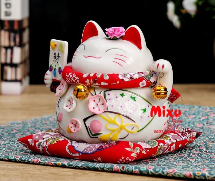 Mèo Thần Tài Kim Đào 15cm May Mắn Tài Lộc12