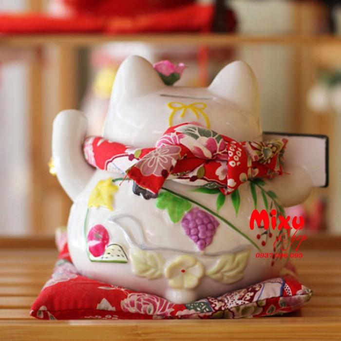 Mèo Thần Tài Kim Đào 15cm May Mắn Tài Lộc1