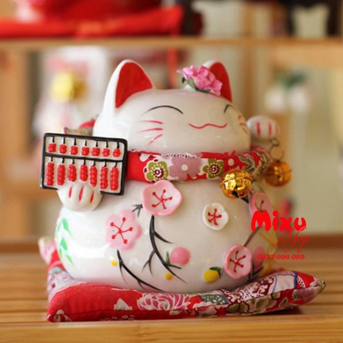 Mèo Thần Tài Kim Đào 15cm May Mắn Tài Lộc8
