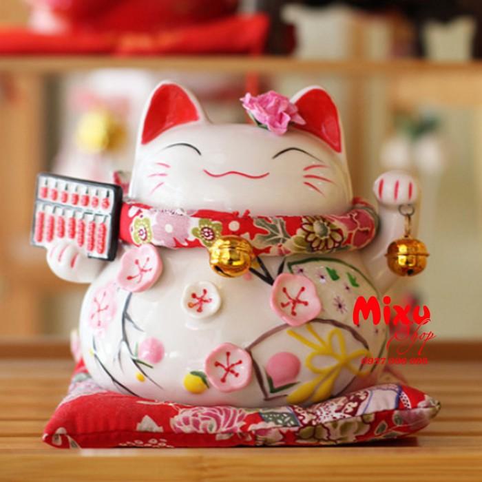 Mèo Thần Tài Kim Đào 15cm May Mắn Tài Lộc4