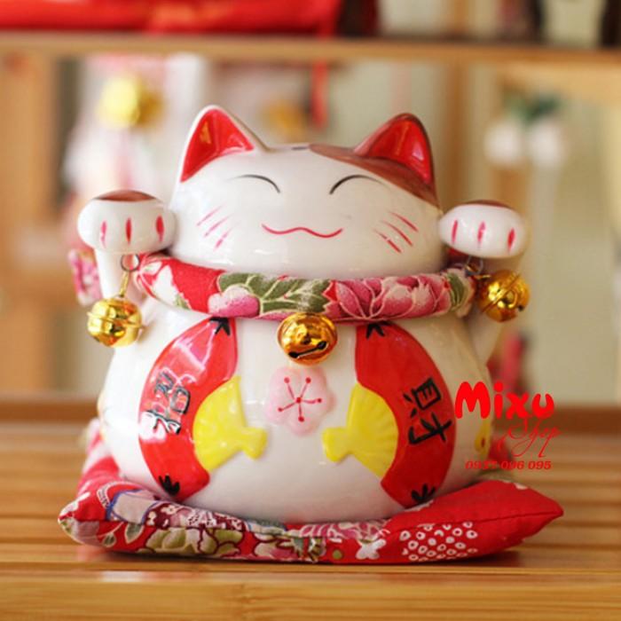 Mèo Thần Tài Kim Đào 15cm May Mắn Tài Lộc7