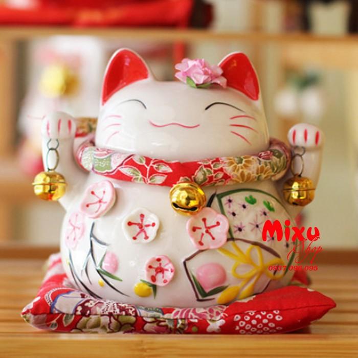 Mèo Thần Tài Kim Đào 15cm May Mắn Tài Lộc3