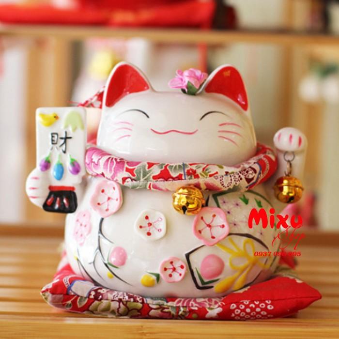 Mèo Thần Tài Kim Đào 15cm May Mắn Tài Lộc5