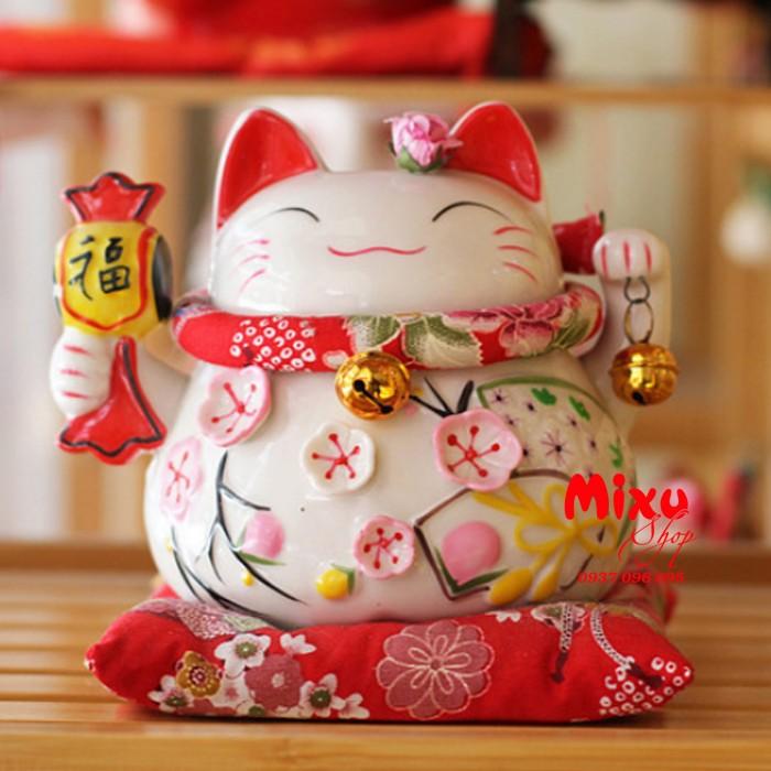 Mèo Thần Tài Kim Đào 15cm May Mắn Tài Lộc6