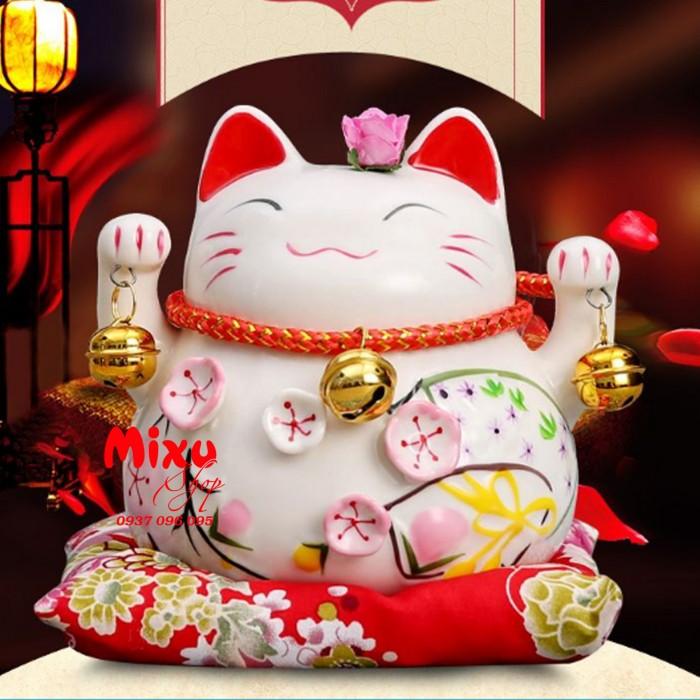 Mèo Thần Tài Kim Đào 15cm May Mắn Tài Lộc2