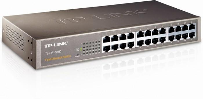 Bộ chia mạng TP-Link TL-SF1024D – Thiết kế để bàn nhỏ gọn, có giá treo, Cắm là xài không cần cài đặt5