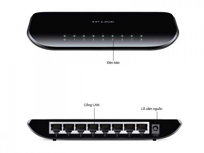 Chia mạng Gigabit 8 cổng TP-LINK TL-SG1008D dễ dàng chuyển đổi sang Ethernet Gigabit0