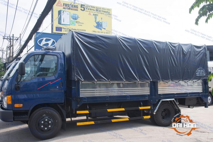 Xe Tải Hyundai Chính Hãng 3 Cục Thùng Mui Bạt Có Bững Nâng