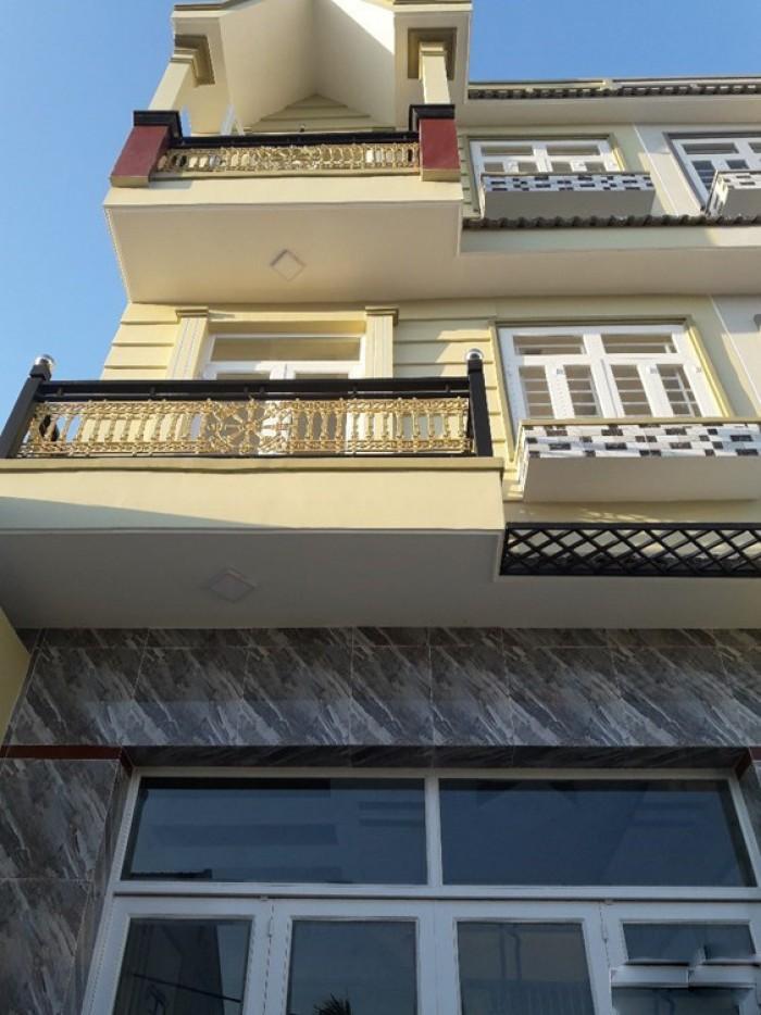 Nhà 2 lầu, đường Huỳnh Tấn Phát, Nhà Bè, DT 5m x 16m