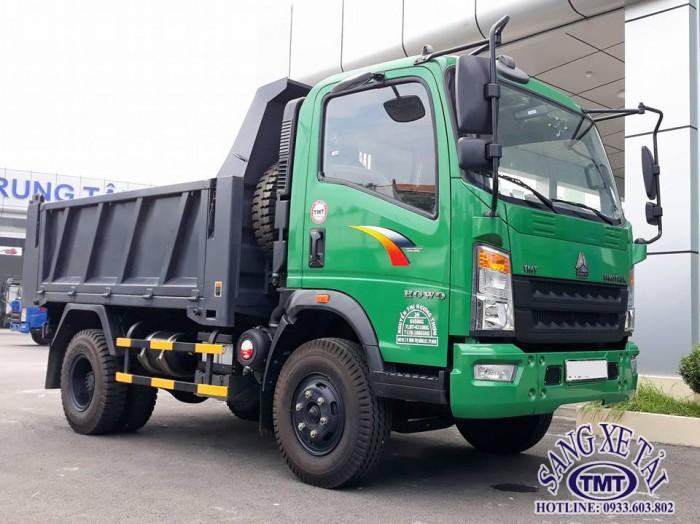 Xe ben howo 6T5 ( thùng 5 khối) hỗ trợ trã góp toàn quốc, lãi suất thấp