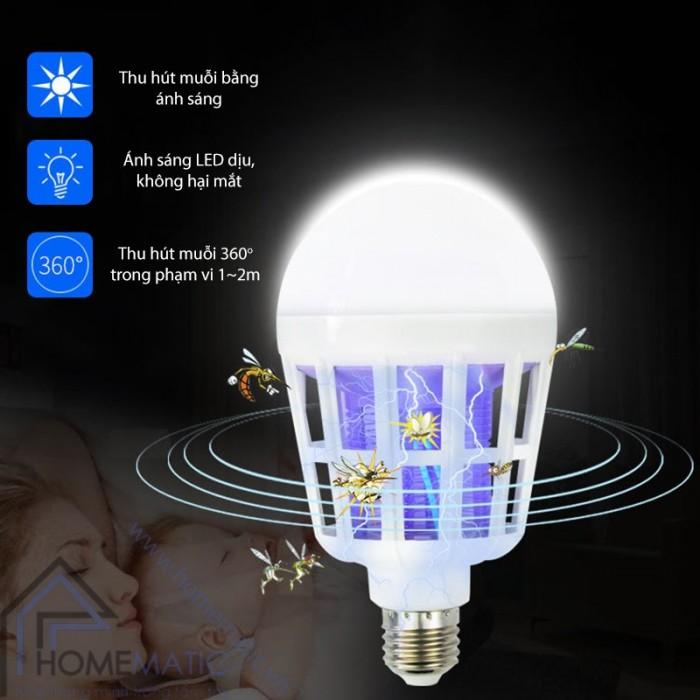 Bóng đèn bắt muỗi thông minh4