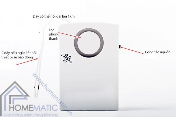 Báo động mất điện dùng pin sạc IA-023
