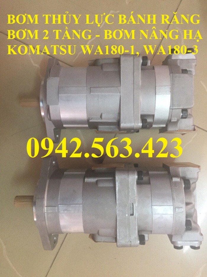 Bơm thủy lực bánh răng Komatsu WA180-1, WA180-3