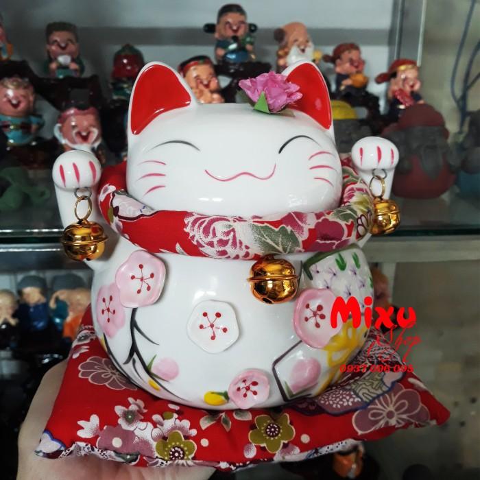 Mèo Thần Tài Kim Đào 15cm May Mắn Tài Lộc20