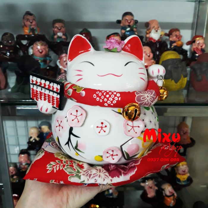 Mèo Thần Tài Kim Đào 15cm May Mắn Tài Lộc21