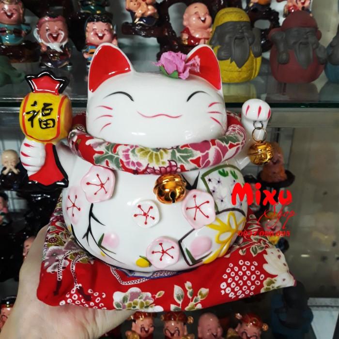 Mèo Thần Tài Kim Đào 15cm May Mắn Tài Lộc22