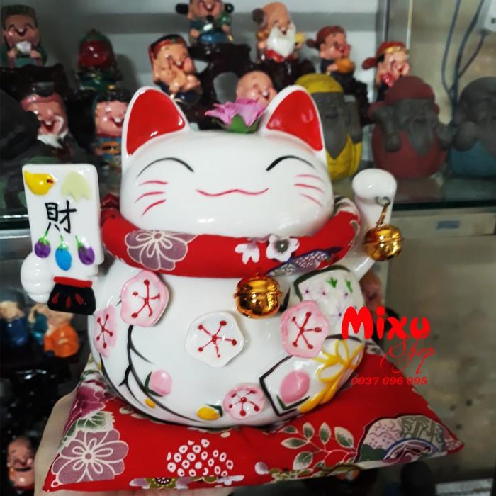 Mèo Thần Tài Kim Đào 15cm May Mắn Tài Lộc23
