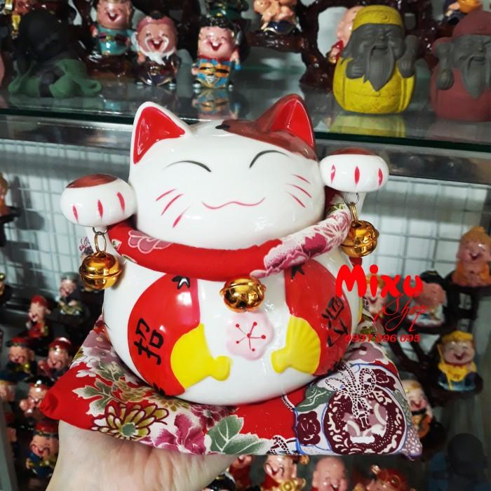 Mèo Thần Tài Kim Đào 15cm May Mắn Tài Lộc24