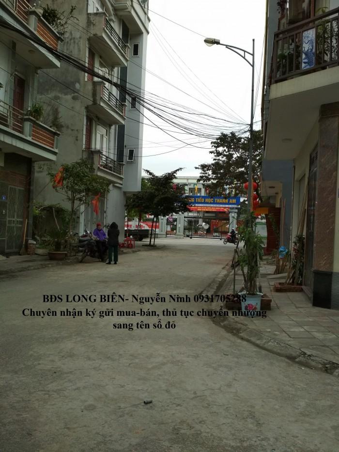 Bán đất Đường Thanh Am tái định cư Xóm Lò 54.5m ô tô đỗ cửa.