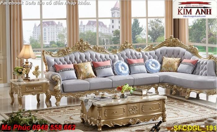 Thanh lý gấp các mẫu sofa cổ điển châu âu góc L thu hồi vốn, hàng chính hãng, chất lượng, bảo hành 4 năm19