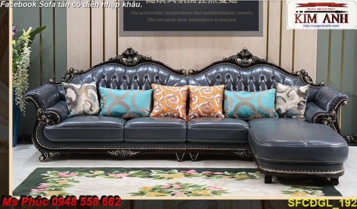 Thanh lý gấp các mẫu sofa cổ điển châu âu góc L thu hồi vốn, hàng chính hãng, chất lượng, bảo hành 4 năm20