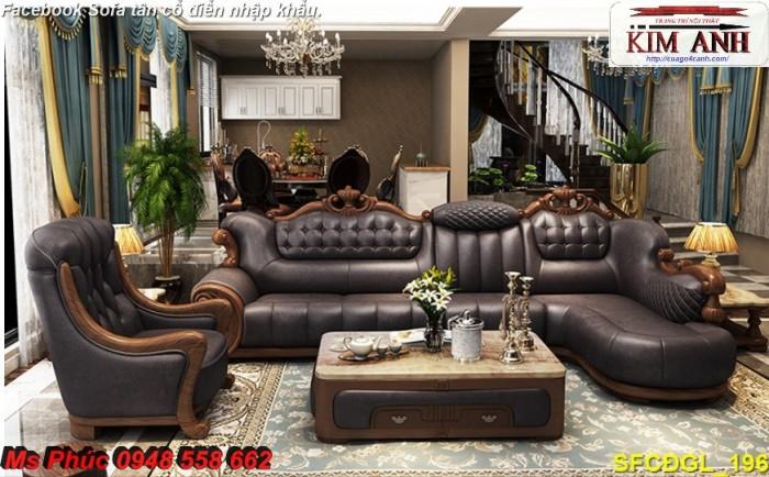 thanh lý sofa tân cổ điển góc l5