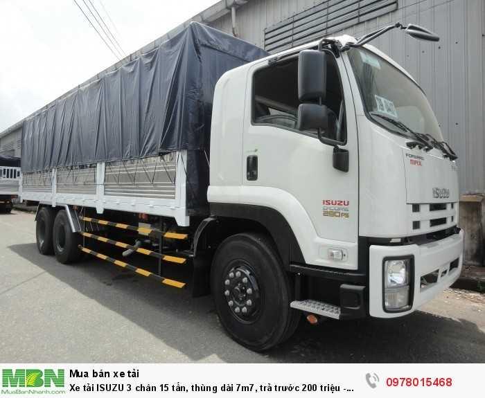 Bán xe tải ISUZU 3 chân 15 tấn, thùng dài 7m7, trả trước 200 triệu - GIAO XE NGAY 0978015468 (Mr Giang 24/24)