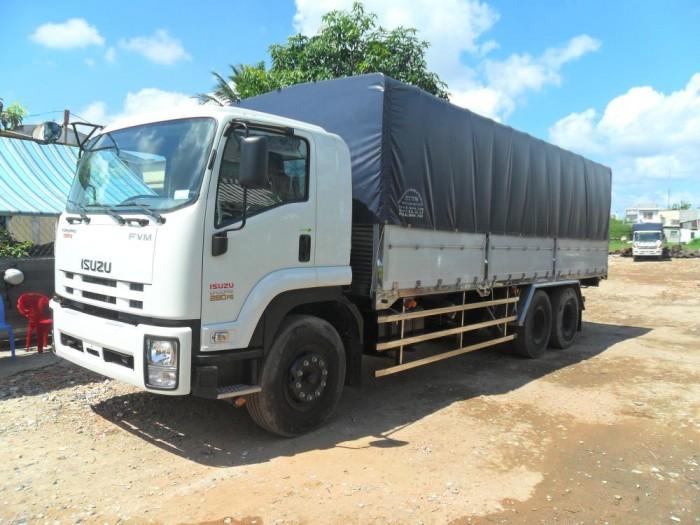 GIÁ xe tải ISUZU 3 chân 15 tấn, thùng dài 7m7, trả trước 200 triệu - GIAO XE NGAY 0978015468 (Mr Giang 24/24)