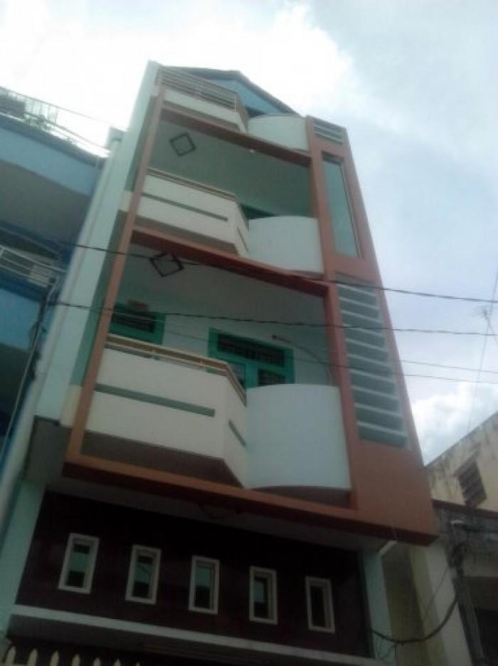 Bán nhà hẻm xe hơi Võ Thị Sáu, P. Tân Định, Q. 1, DT: 4x14m, trệt, 2 lầu, sân thượng xây kiên cố.