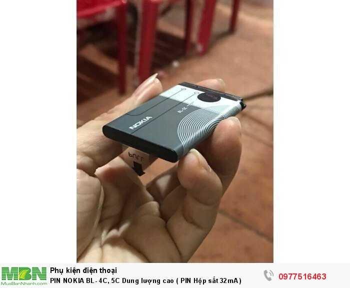 PIN NOKIA BL- 4C, 5C Dung lượng cao ( PIN Hộp sắt 32mA )1