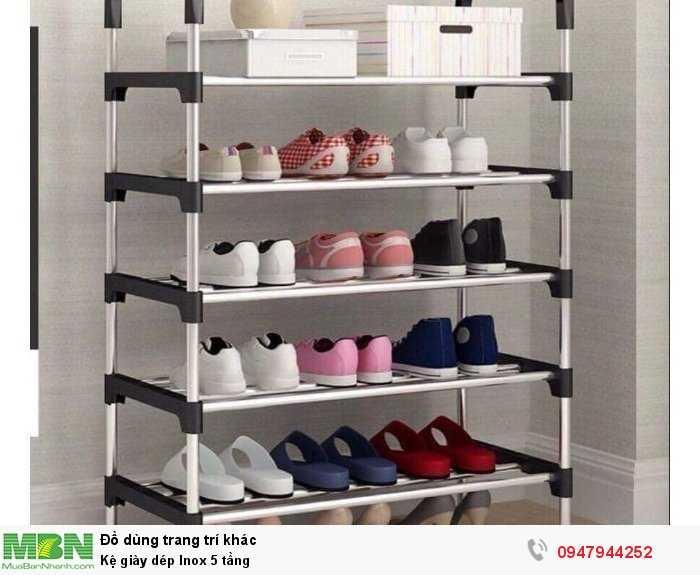 Kệ giày dép Inox 5 tầng0
