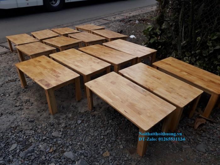 Bàn cafe ngồi bệt gỗ cao su giá rẻ