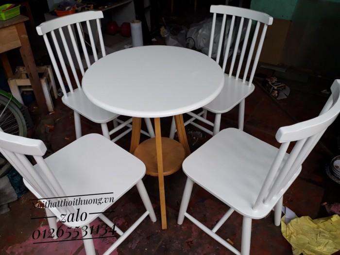Bàn ghế tròn cafe,trà sữa giá rẻ.1